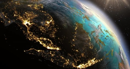 Southeast Asia Viewed from Space