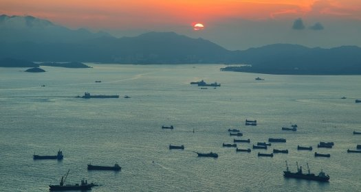 Vessels on the South China Sea